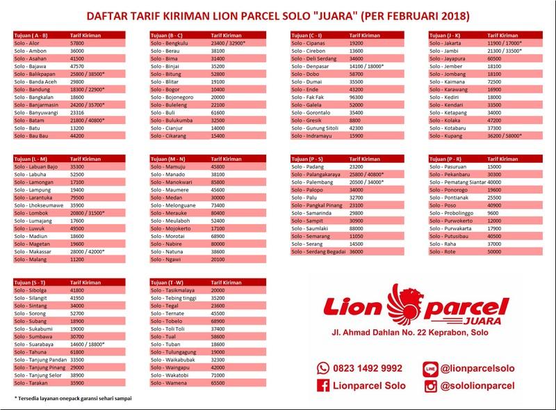tarif all lion solo